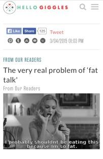 HG Fat Talk