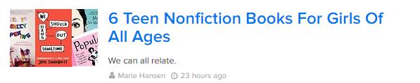 BuzzFeed 6 Teen Nonfiction