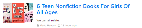 BuzzFeed 6 Teen Nonfiction